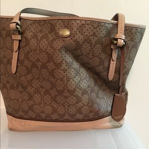 Gently used Authentic Coach tote